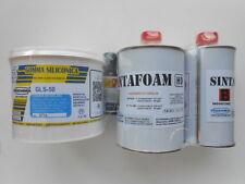 GOMMA SILICONICA GLS 50 DA 500 GR +  SINTAFOAM HD RESINA DA COLATA GR 800
