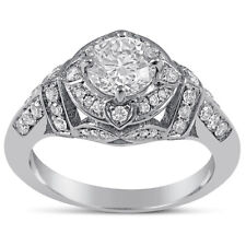 EGL USA certified Round Antique Style Diamond Engagement Ring R146