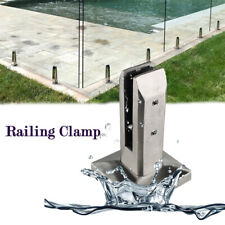 Stainless Steel Glass Clip Floor Stand Balcony Pool Balustrade Railing Clamp