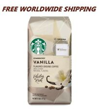 Starbucks Vanilla Flavored Ground Coffee 11 Oz FREE WORLDWIDE SHIPPING
