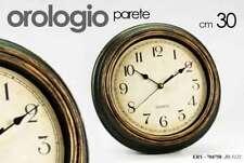 OROLOGIO DA PARETE Ø30 CM ANTICATO EFFETTO LEGNO VINTAGE COLORI ASSOR ERY 704758