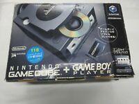 J184 Nintendo GameCube Console Black Enjoy Plus pack Japan GC w/adapter player