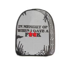 Mémoire De Quand I Gave Un F K Émail Pins Broche Badge / Broche Drôle Gothique