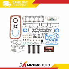 Oversize Thickness Full Gasket Set Head Bolts Fit 85-95 Toyota 2.4 22R 22REC
