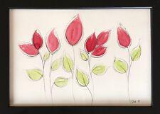 Original watercolour flowers, roses, affordable artwork