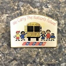 Laidlaw School Bus Metal & Enamel Driver Lapel Pin We Carry The Nation's Future