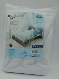 Just Relax Elegant Mosquito Net Bed Canopy Set, Twin-Full, White