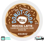 Donut Shop Mocha 1 One Step Latte Keurig Coffee K-cups YOU PICK THE SIZE