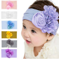 Baby Girl Headwear Nylon Headband Beanie Hat  Flower Hairband  Elastic Turban