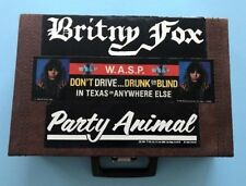 1984 Britny Fox WASP Party Animal Stickers on CASSETTE TAPE CASE Vinyl