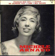 MICHELE ARNAUD Chante GEORGES MOUSTAKI et JEAN FERRAT 45T EP BIEM PATHE EG 615