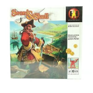 Sword & Skull Board Game Avalon Hill Pirate Card, Dice Turn-Based Strategy New