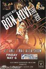 BON JOVI Keith Urban Concert Handbill Mini Poster 2011 NY Area