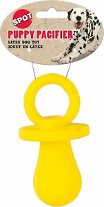 """Spot Ethical Pet 4"""" Soft Latex Yellow Puppy Pacifier Dog Toy Spotbites Small"""