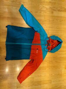 Edge Childrens Ski Snowboard Jacket Blue Red Age 7-8 Used