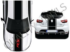 Renault RS Megane Clio racing stripes graphic decals bonnet roof boot OTT25
