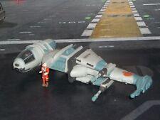 STAR WARS ACTION FLEET REBEL B-WING STARFIGHTER WITH REBEL PILOT MINI FIGURE
