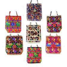 WHOLESALE DEAL 5 PC SACHEL BAGS HIPPIE EMBROIDERED INDIAN ELEPHANT SHOULDER BAG