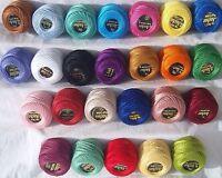 25 Anker Perlgarn knäuel. Size 8 (85 Je ), 25 verschieden Farben