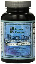 Blue Ice Fermented Cod Liver Oil 120 Caps 120 Capsules Green Pastures