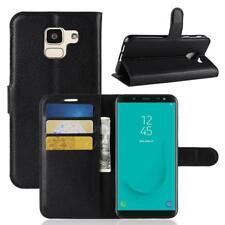 Funda para el Samsung Galaxy J6 2018 Libro Cover Wallet Case-s bolsa Negro