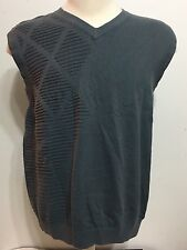 Tiger Woods By Nike Golf Mens Gray V-shaped  Vest Size Large