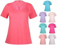 Short Sleeve Hand-wash Only Solid Plus Size Tops for Women
