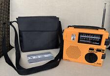 Eton LL Bean FR-200 Hand Crank Emergency Radio AM/FM/SW1,2 World Receiver + Case