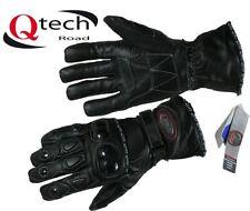 Gants de route en cuir et textile pour motocyclette