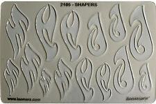 METAL CLAY DESIGN TEMPLATE STENCIL - TRIBAL SHAPES & TRIBAL FISH HOOKS