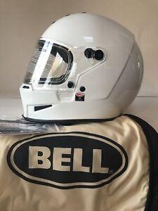 Bell Eliminator Solid White Medium Full Face Motorcycle Helmet