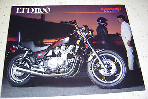 1984 Kawasaki Ltd1100cc  Sales Brochure,Genuine NOS, 4 Pages.