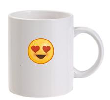 Cœur yeux Emoji personnalisé TASSE SMILEY noël drôle hommes femmes cadeau