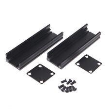 Black DIY 80x25x25mm Extruded Electronic Project Aluminum Enclosure Case