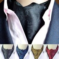 Formal Men's Cravat Vintaget Ties Paisley Floral Jacquard Woven Silk Ascot Ties
