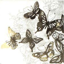 Papel 4x Servilletas Para Decoupage Decopatch Craft increíble mariposas negro