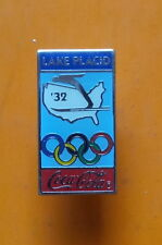 Pin's pin J.O JEUX OLYMPIQUES LAKE PLACID 1932 COCA COLA OLYMPIC Spilla