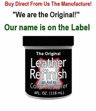 Wine ~ We are the ORIGINAL! LEATHER Refinish an Aid to Color RESTORER Free Shp