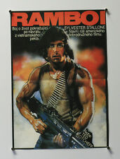 "RAMBO FIRST BLOOD - ORIGINAL *RARE* 1984 MOVIE POSTER - CZECH 11X26"" - STALLONE"