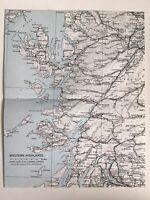 ELGIN 1912 John Bartholomew /& Co NAIRN Plate 47 ATLAS of SCOTLAND