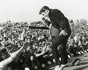 "Elvis Presley on Stage in Concert Photo (Size: 8"" X 10"")"