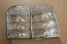 01 07 FORD ESCAPE TAIL LIGHT TAILLIGHT COVER GUARD CAGE CHROME STAINLESS SET NEW
