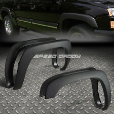 PAINTABLE MATTE BLACK OE STYLE WHEEL FENDER FLARES FOR 99-07 SILVERADO/SIERRA