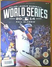 KANSAS City Royals MLB WORLD SERIES 2014 Baseball San Francisco Giants programma