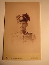 Grimma - 1893 - Adt. Böhme als Soldat in Uniform mit Mütze - Husar ? / CDV