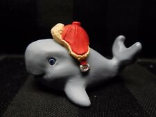 "Hallmark Merry Miniatures '93 Baby BlueWhale With Red Winter Hat ""Ocean Friends"""