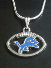 Detroit Lions Necklace/Pendant NFL Football (Sterling Silver Chain)