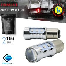Syneticusa: 2x 1157 Red Flash Strobe Brake Tail LED Light Bulb Legal Flash Alert
