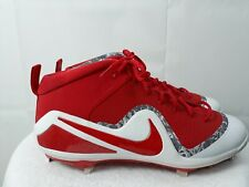 NIKE FORCE ZOOM TROUT 4 Mid Metal Mens Size 13  Baseball Cleats Red