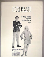 Gianni Morandi & Patty Pravo PRINT AD - 1968 ~ RCA Records